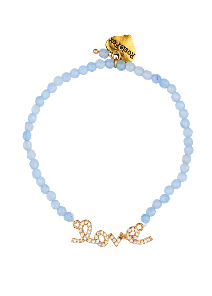 Sky Gemstone Love Bracelet