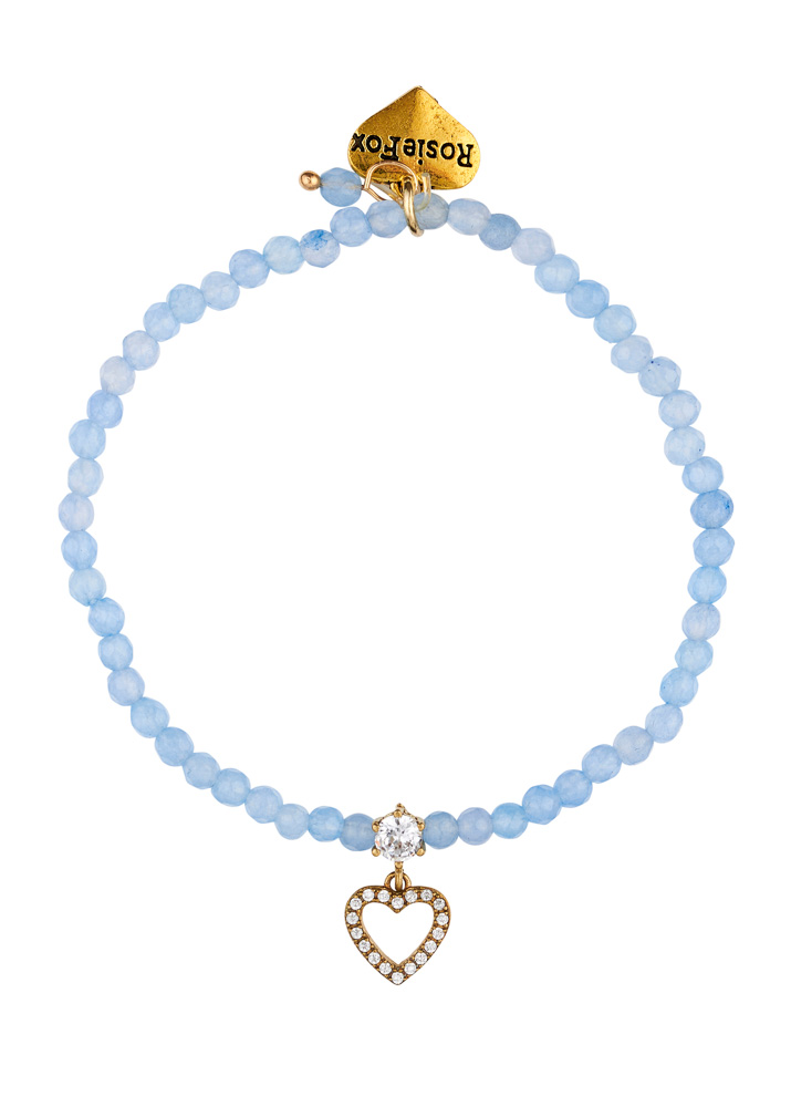 Sky Gemstone Heart Bracelet