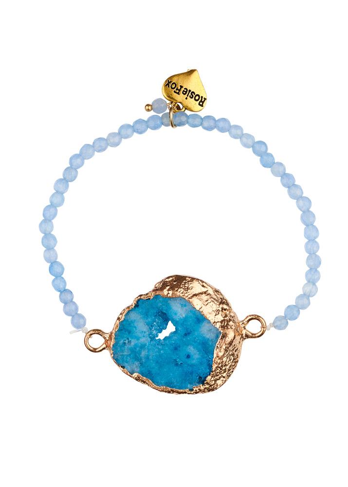 Sky Agate Crystal Bracelet