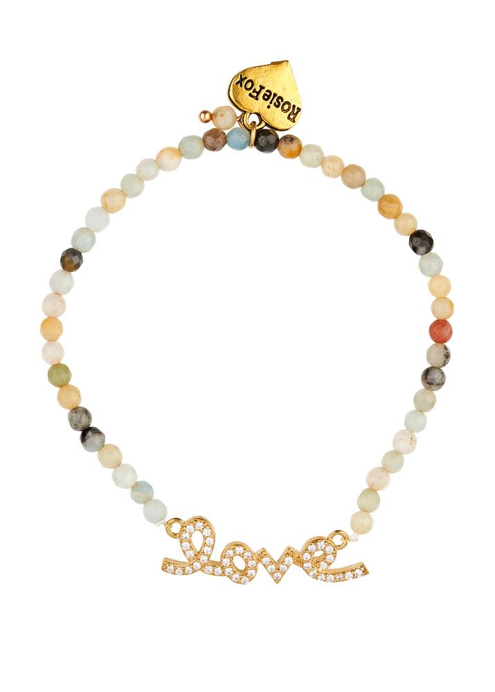 Amazonite Gemstone Love Bracelet