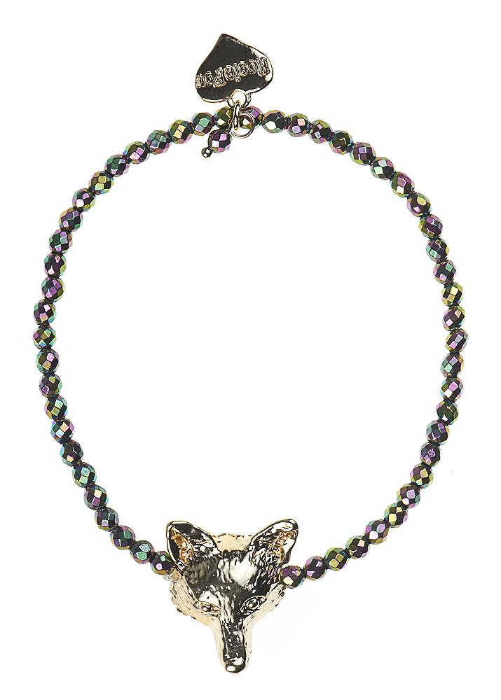 Blush Pyrite Fox Bracelet