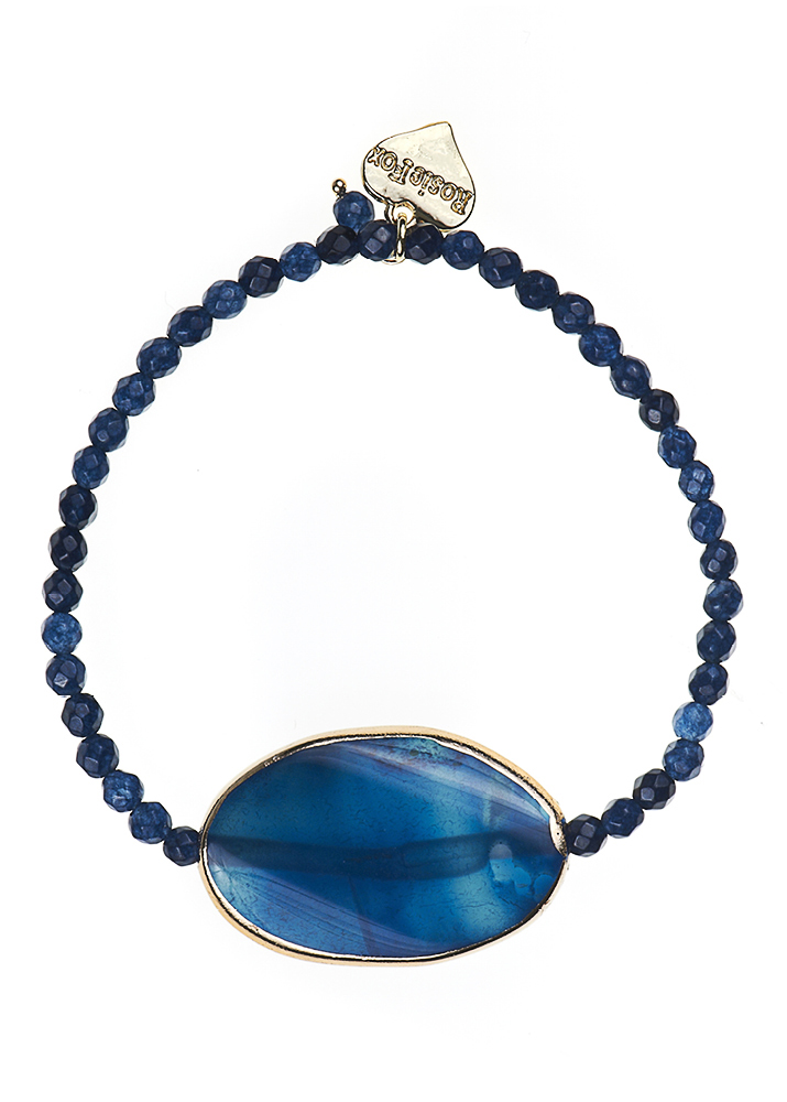 Royal Navy Agate Bracelet