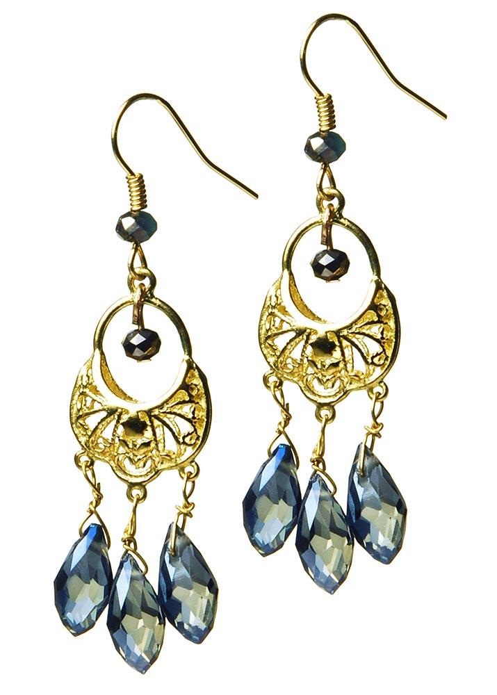 Blue Ocean Crystal Earrings