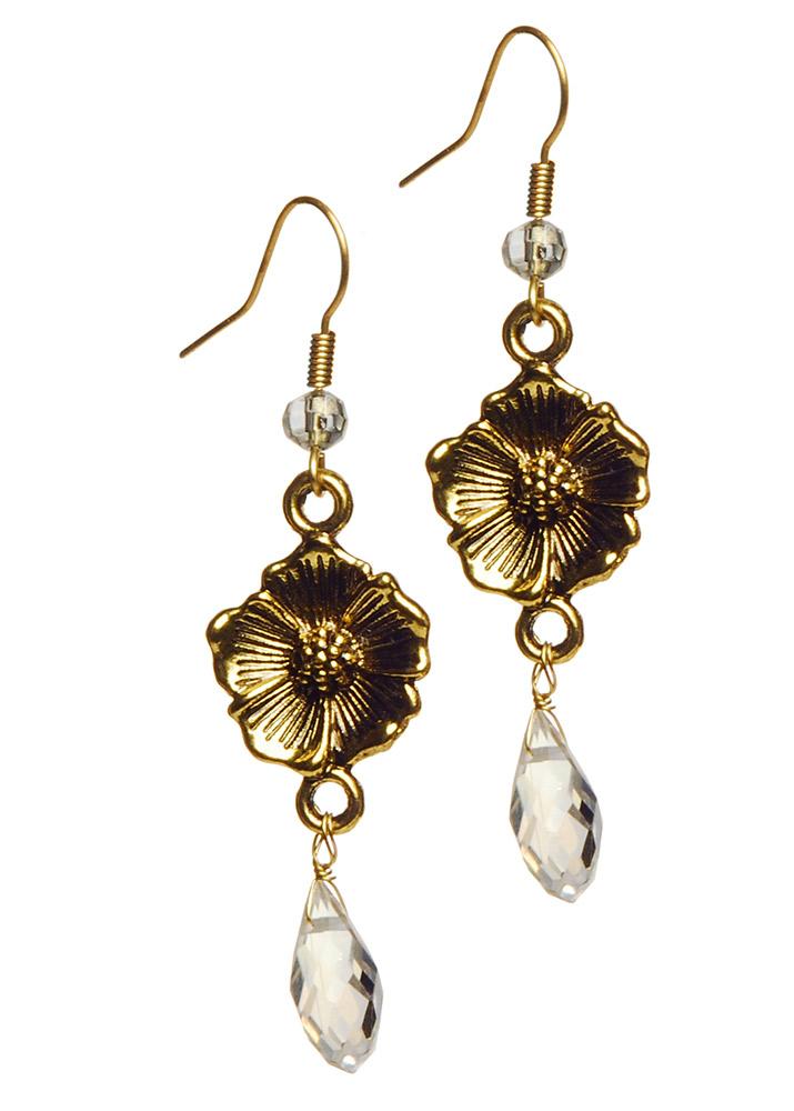 Gold Sahara Rose Earrings