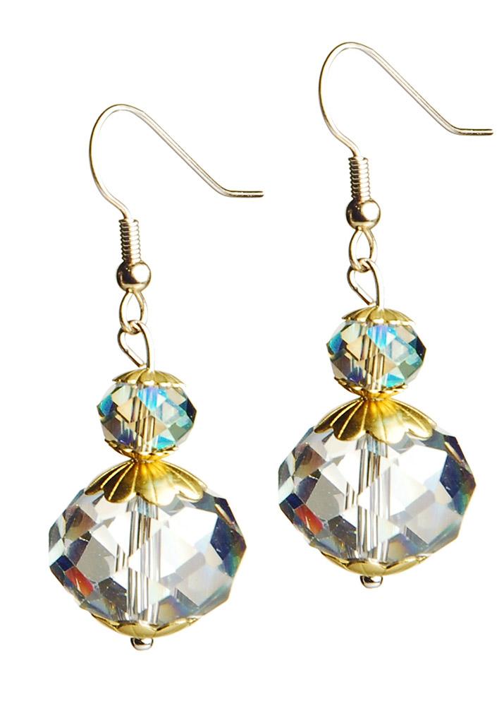 Iridescent Fern Earrings