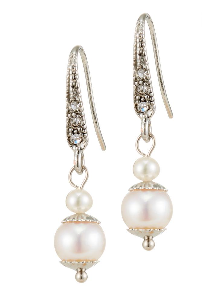 Ivory Freshwater Pearl Earrings