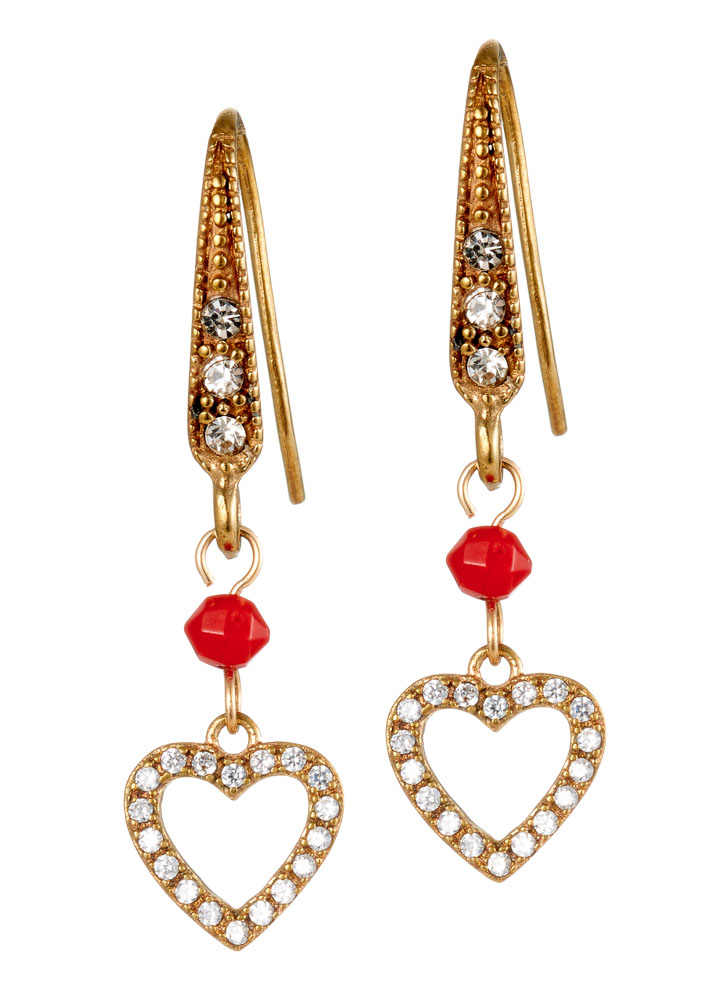 Ruby Rose Heart Earrings