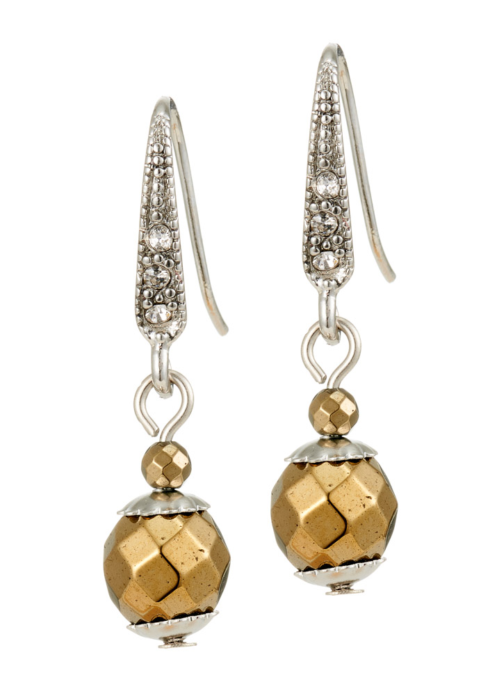 Pyrite & Crystal Earrings