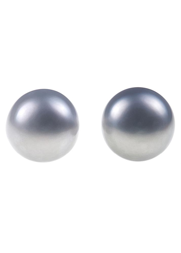 Grey Freshwater Pearl Stud Earrings
