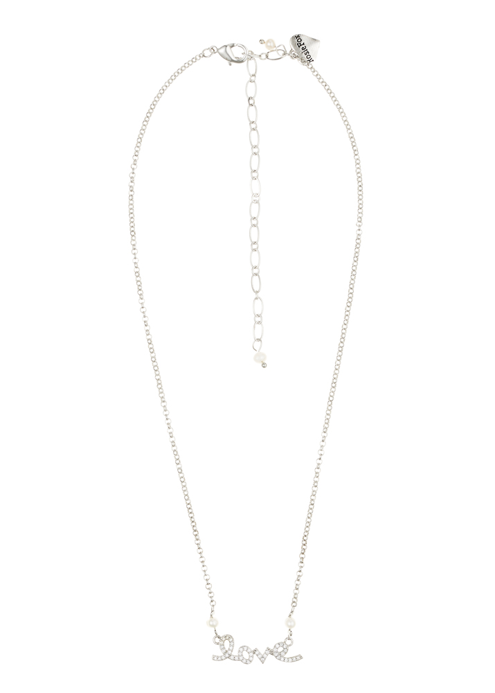 Ivory Freshwater Pearl Love Chain Necklace