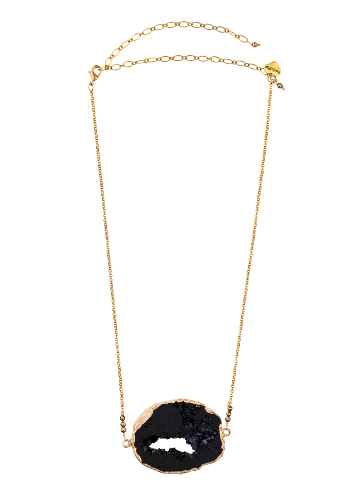 Pyrite & Agate Crystal Necklace
