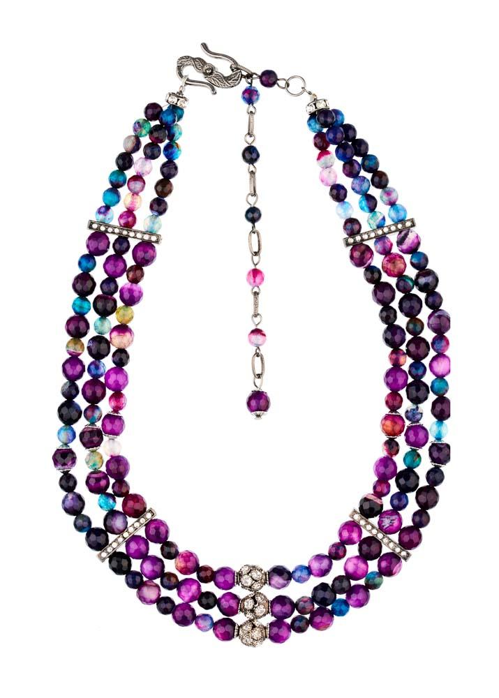 Amethyst & Blue Quartz Gemstone Collar