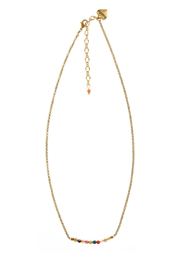 Ruby Rainbow Agate Bar Necklace