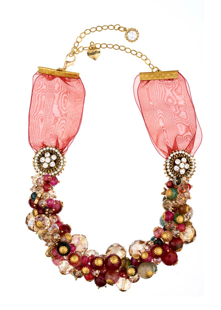 Ruby Rainbow Agate Star Statement Necklace