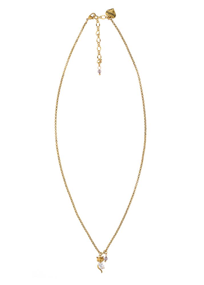 Dove Crystal Fox Necklace