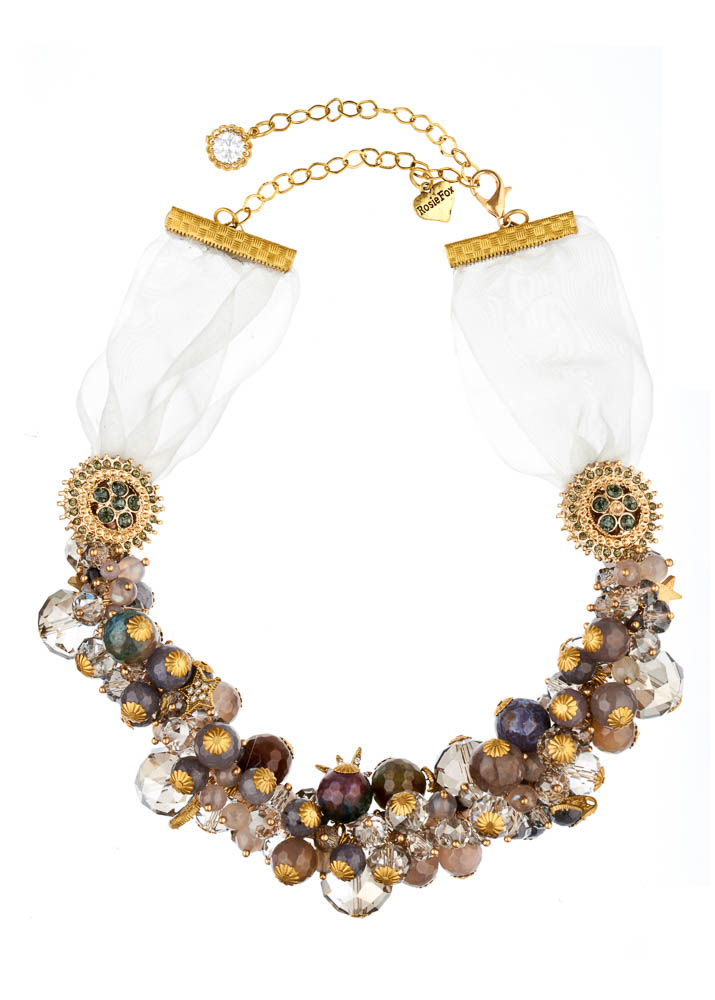 Dove Agate Star Statement Necklace