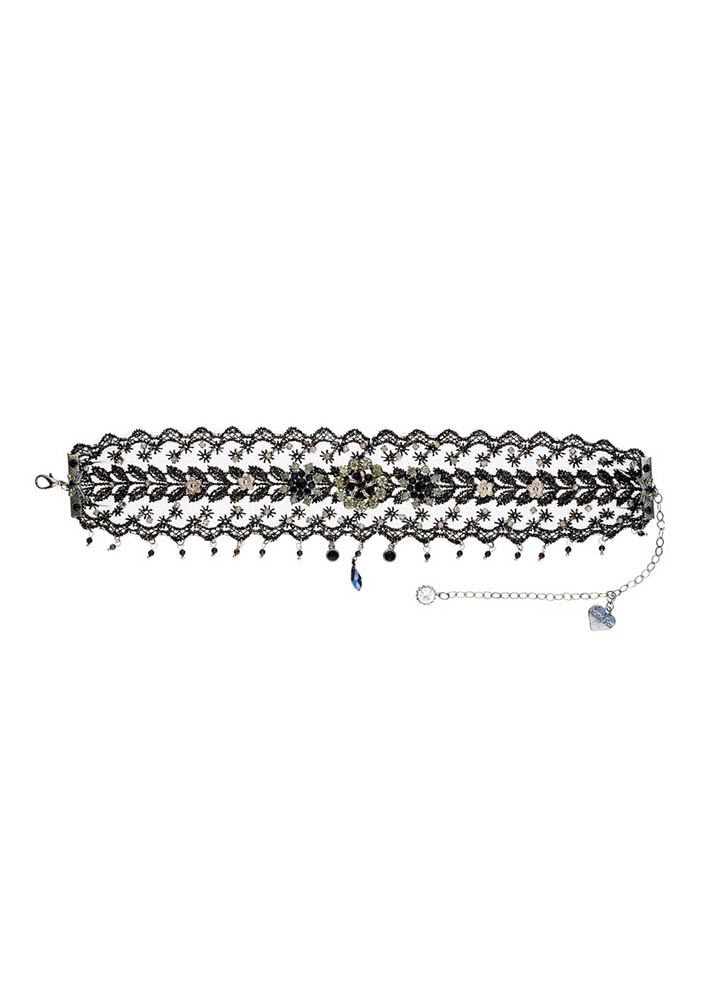 Cafe Noir Pewter & Lace Choker