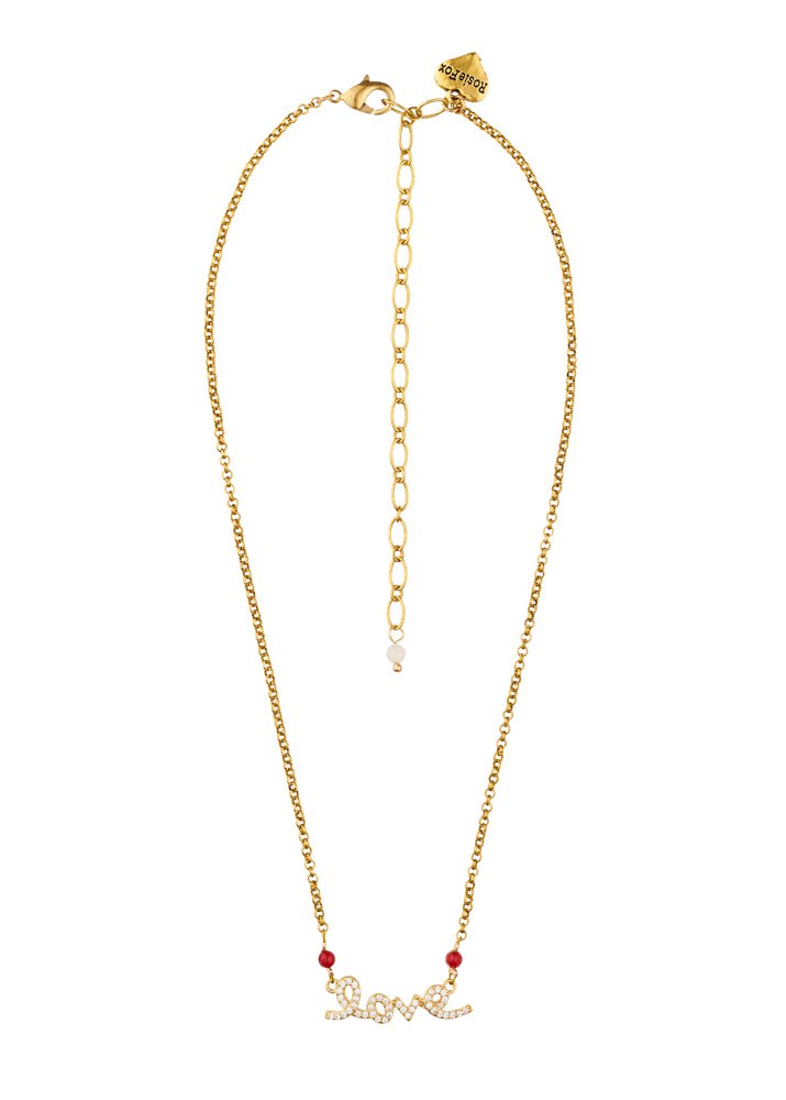 Ruby Rose Love Chain Necklace