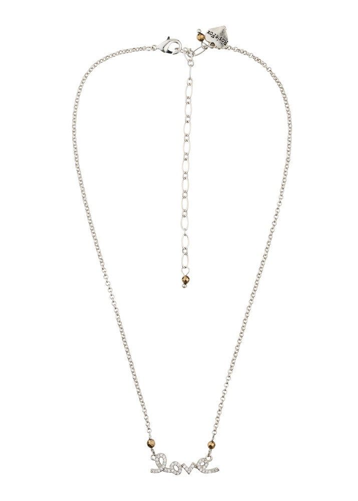 Pyrite Love Silver Chain Necklace