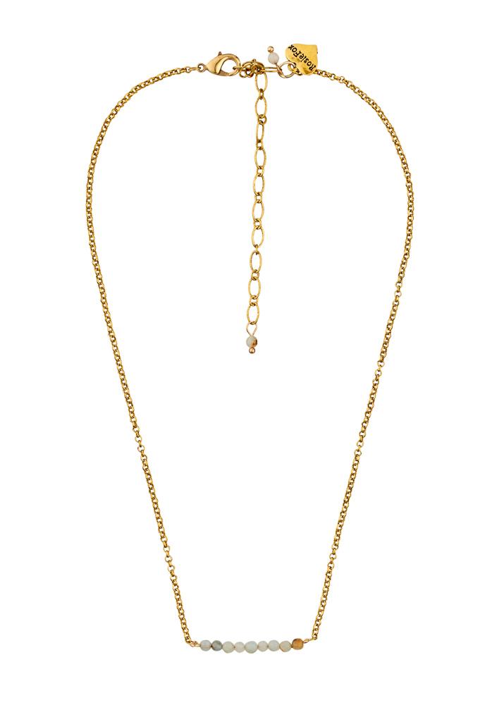 Amazonite Gemstone Bar Necklace