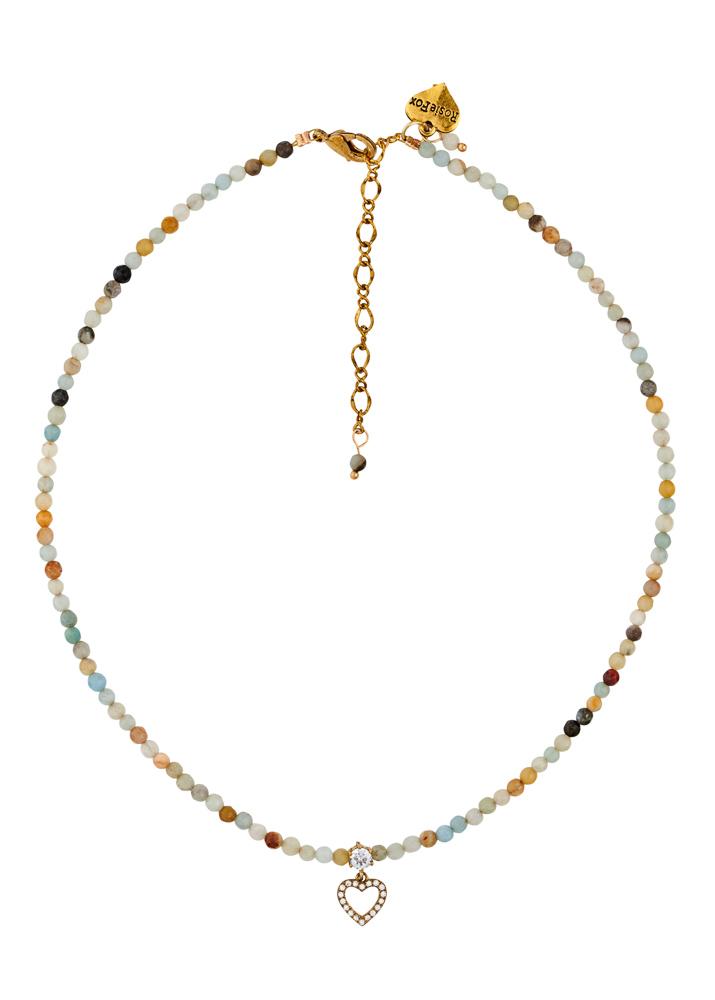 Amazonite Gemstone Heart Necklace