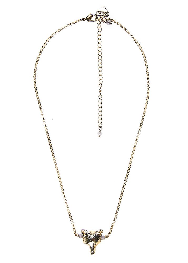 Dove Fox Chain Necklace