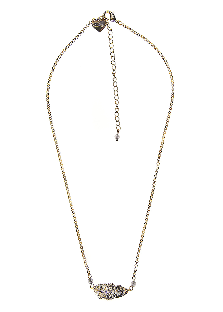 Dove Lucky Feather Gold Chain Necklace