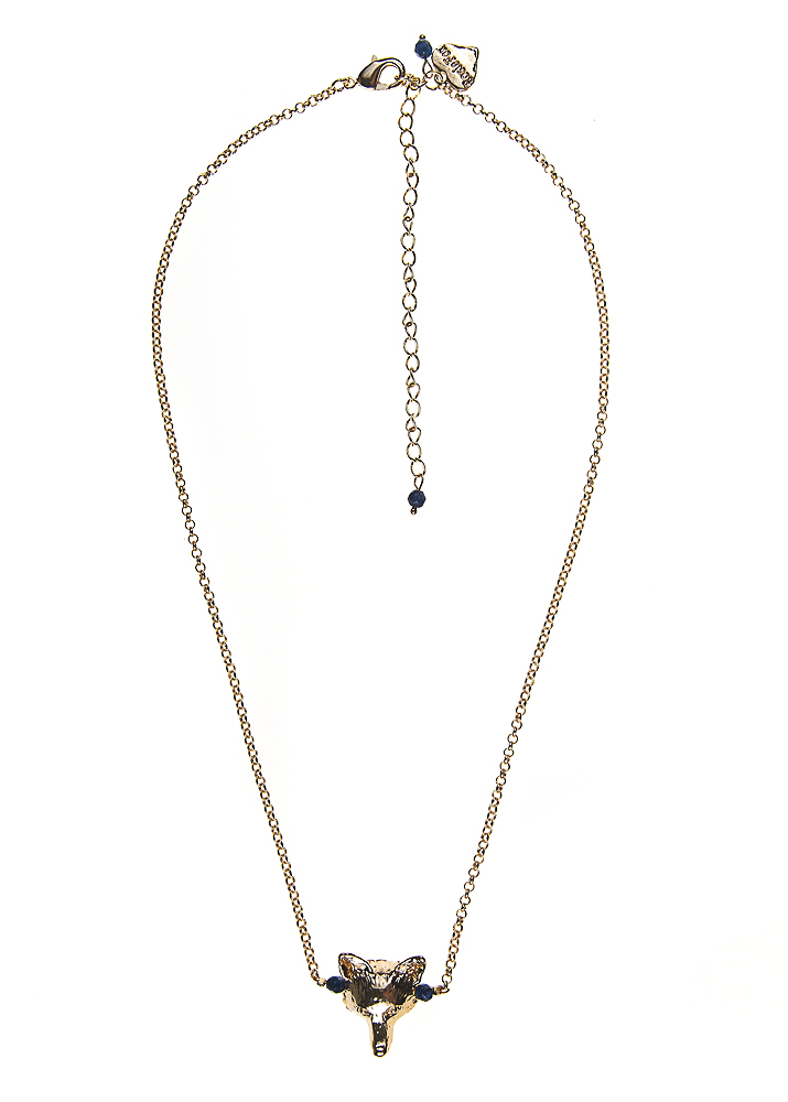 Royal Navy Agate Fox Chain Necklace