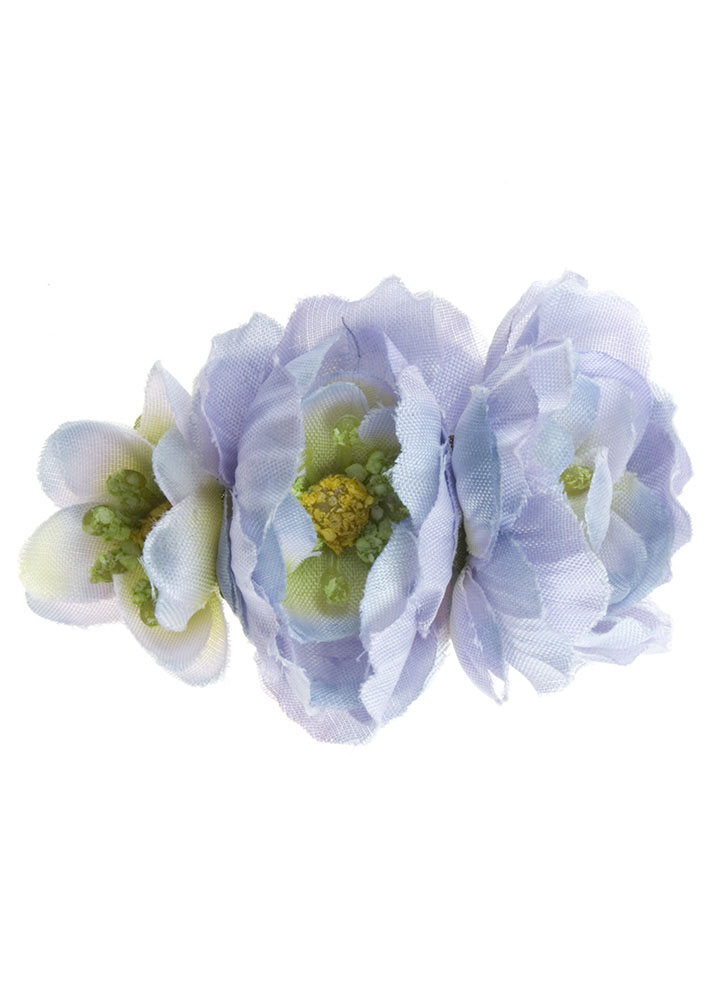 Lilac Triple Blossom Hairclip And Corsage
