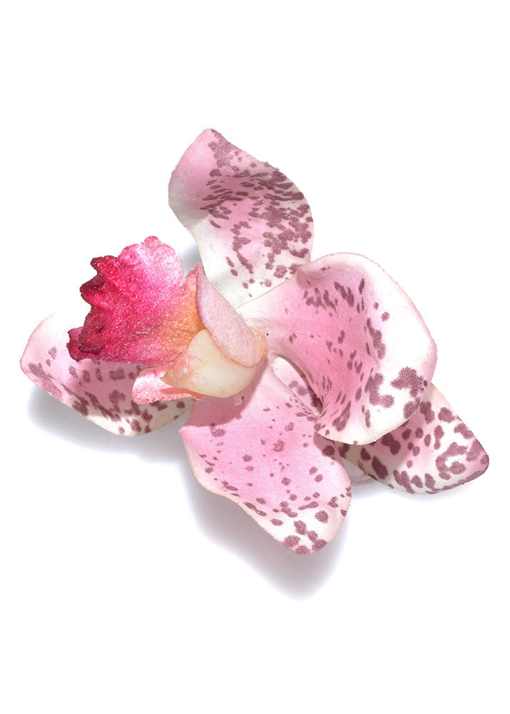 Pink Tiger Orchid Hairclip & Corsage