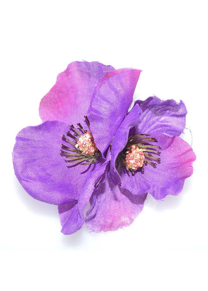 Purple Poppies Hairclip & Brooch