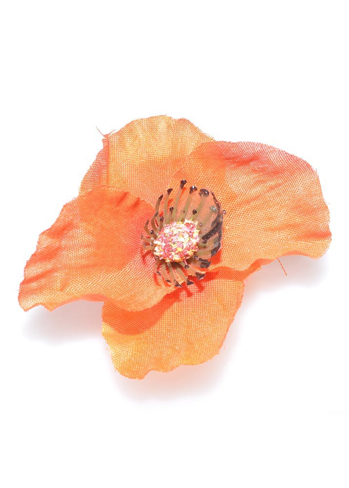 Orange Poppy Hairclip & Brooch