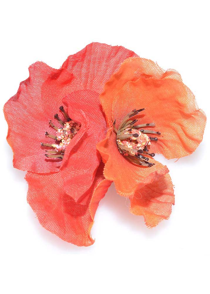 Red Poppies Hairclip & Brooch