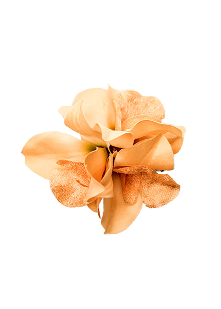 Peach Lily Hairclip & Corsage