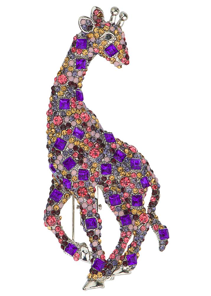 Rosie Crystal Giraffe Brooch & Hairclip