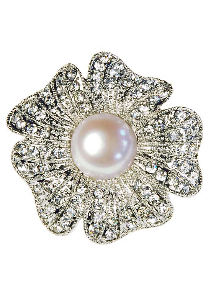 Pearl Rose Stretch Ring