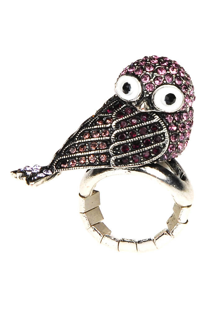 Lavender Owl Stretch Ring