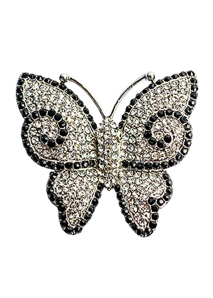 Crystal Butterfly Stretch Ring