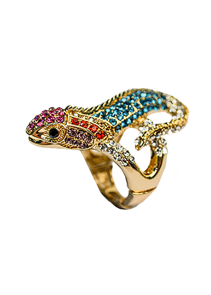 Rainbow Gecko Stretch Ring