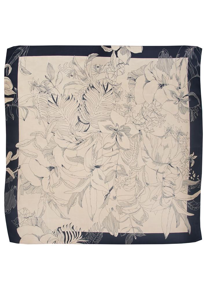Black Orchid Silk Scarf